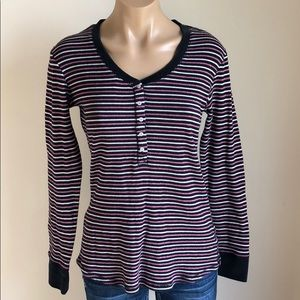 VICTORIA'S SECRET STRIPED THERMAL TOP LARGE